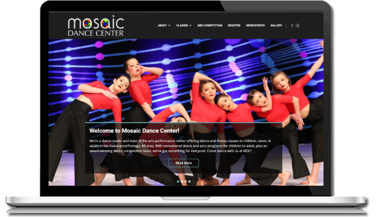 Designing websites specifically for dance studios, performing arts ...