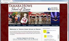 Dance Studio Website Design - Tamara Howe School of Dance in Salina, KS