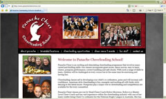 Panache Cheerleading School in Bradford, West Yorkshire, England