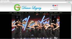 Dance school website design portfolio