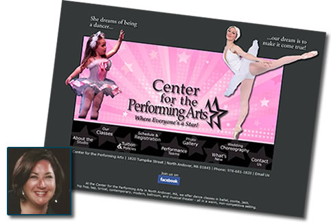Dance website - Center for Performing Arts in North Andover, MA
