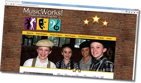Dance studio website - MusicWorks! Studio of Performing Arts