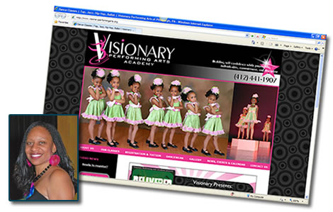 Dance studio website - Visionary Performing Arts Academy in Pittsburgh, PA