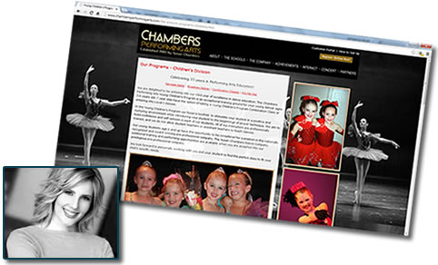 Dance school website - Chambers Performing Arts in Alpharetta, GA